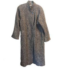 Vintage Women's Tweed Wool Trench Coat